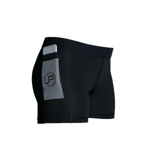 PocJox Kona Womens Compression Half Shorts - Black